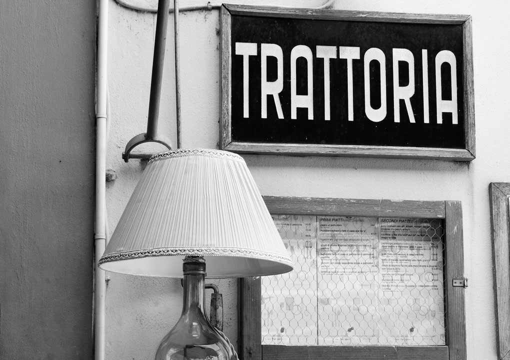 Typical and characteristic restaurant in the old town, Lucca Italy